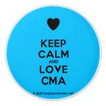 [Love heart] keep calm and love cma  Ceramic Knobs Ceramic Knob
