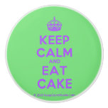 [Crown] keep calm and eat cake  Ceramic Knobs Ceramic Knob