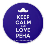 [Moustache] keep calm and love peha  Ceramic Knobs Ceramic Knob