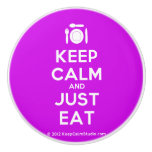 [Cutlery and plate] keep calm and just eat  Ceramic Knobs Ceramic Knob