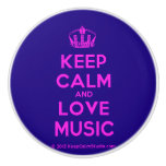 [Dancing crown] keep calm and love music  Ceramic Knobs Ceramic Knob
