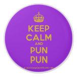 [Crown] keep calm and pun pun  Ceramic Knobs Ceramic Knob