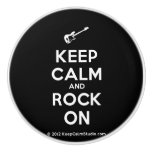 [Electric guitar] keep calm and rock on  Ceramic Knobs Ceramic Knob