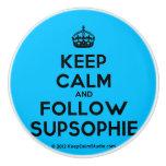 [Crown] keep calm and follow supsophie  Ceramic Knobs Ceramic Knob