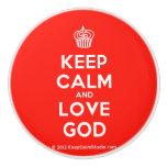 [Cupcake] keep calm and love god  Ceramic Knobs Ceramic Knob