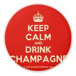 [Crown] keep calm and drink champagne  Ceramic Knobs Ceramic Knob