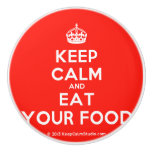 [Crown] keep calm and eat your food  Ceramic Knobs Ceramic Knob