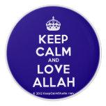 [Crown] keep calm and love allah  Ceramic Knobs Ceramic Knob