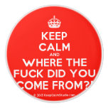 [Crown] keep calm and where the fuck did you come from?!  Ceramic Knobs Ceramic Knob