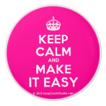 [Crown] keep calm and make it easy  Ceramic Knobs Ceramic Knob