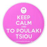[Smile] keep calm and to poulaki tsiou  Ceramic Knobs Ceramic Knob