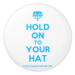 [Crown upside down] hold on to your hat  Ceramic Knobs Ceramic Knob