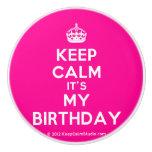 [Crown] keep calm it's my birthday  Ceramic Knobs Ceramic Knob