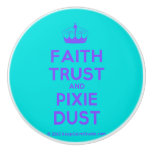 [Knitting crown] faith trust and pixie dust  Ceramic Knobs Ceramic Knob