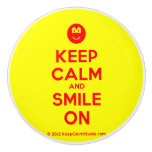 [Smile] keep calm and smile on  Ceramic Knobs Ceramic Knob