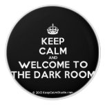 [Crown] keep calm and welcome to the dark room  Ceramic Knobs Ceramic Knob
