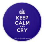 [Crown] keep calm and cry  Ceramic Knobs Ceramic Knob