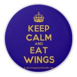 [Crown] keep calm and eat wings  Ceramic Knobs Ceramic Knob