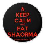 [Campfire] keep calm and eat shaorma  Ceramic Knobs Ceramic Knob