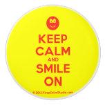 [Smile] keep calm and smile on  Ceramic Knobs Ceramic Knob