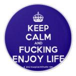 [Crown] keep calm and fucking enjoy life  Ceramic Knobs Ceramic Knob