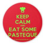 [Chef hat] keep calm and eat some pasteque  Ceramic Knobs Ceramic Knob