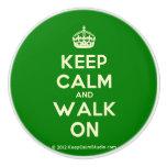 [Crown] keep calm and walk on  Ceramic Knobs Ceramic Knob