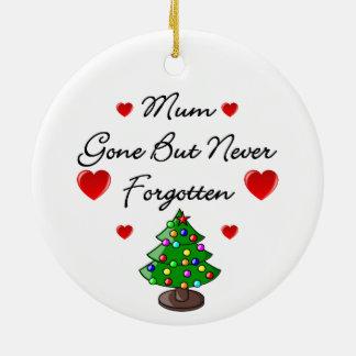 Ceramic Memorial Mum Christmas Tree Ornament