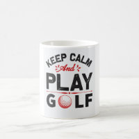 Ceramic Mug, Calmly Golf, Coffee Mug