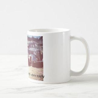 Ceramic mug featuring vintage farm photo.