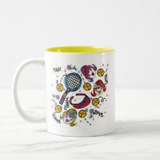 Ceramic Mug -Tennis Girls