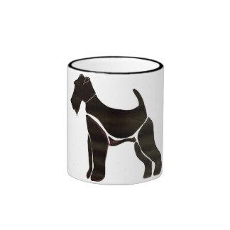 Ceramic Mug with Airedale Motif