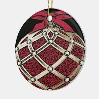 Ceramic Old Fashioned Christmas Ornament