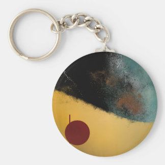 Ceramic Pixels Abstract pressionistiArt Keychain
