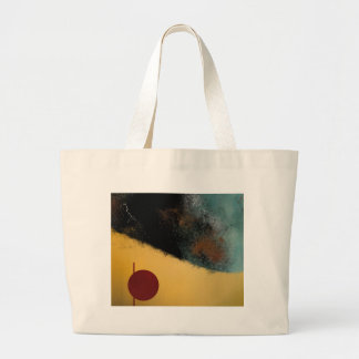 Ceramic Pixels Abstract pressionistiArt Large Tote Bag