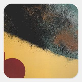 Ceramic Pixels Abstract pressionistiArt Square Sticker