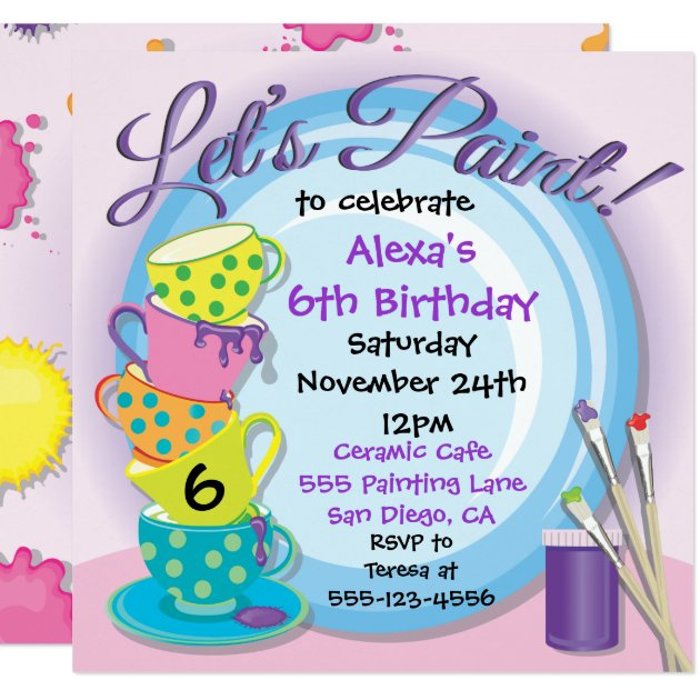 Painting Party Invitations Announcements Zazzle