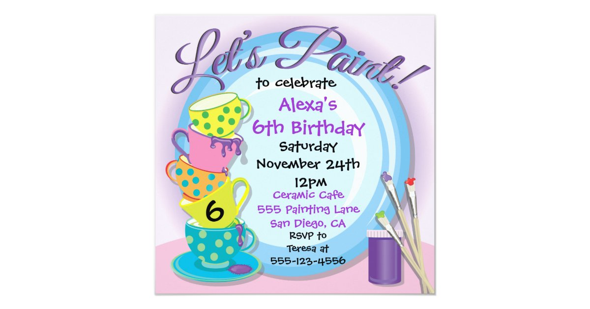 Painting Party Invitations & Announcements | Zazzle