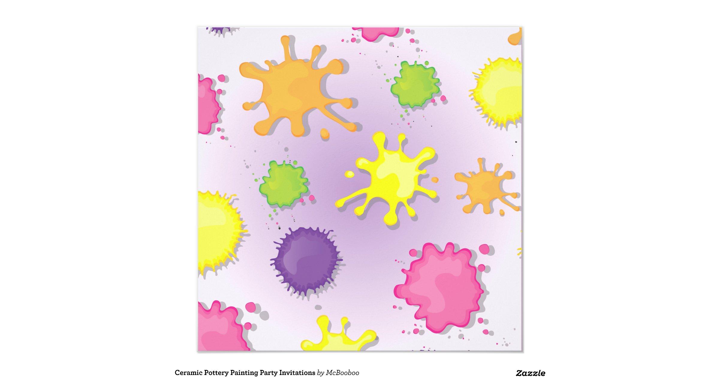 ceramic painting invitations - 28 images - ceramic pottery painting ...