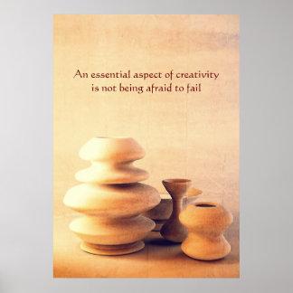 Ceramic Pottery Still Life I - Light and Shadow Poster