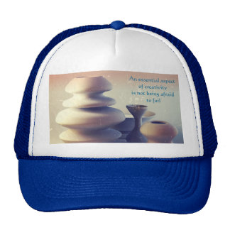 Ceramic Pottery Still Life II Blue Orange Sunset Trucker Hat