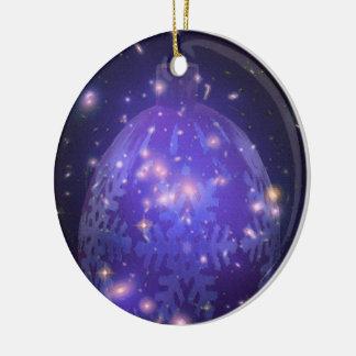 Ceramic Purple Christmas Ornament