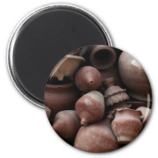 Ceramic Rejects of Potter's Square Nepal 2 Inch Round Magnet