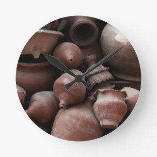 Ceramic Rejects of Potter's Square Nepal Round Clock