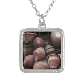 Ceramic Rejects of Potter's Square Nepal Square Pendant Necklace