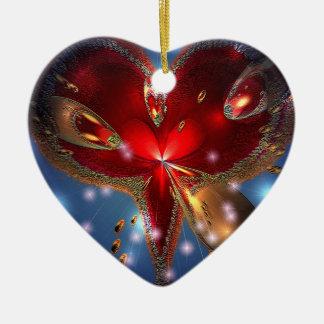 Ceramic(s) heart mad Design Ceramic Ornament