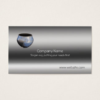 Ceramic Slip-resist Raku Pottery, metallic-look Business Card