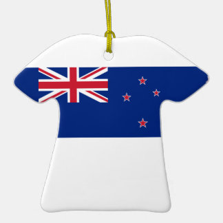 Ceramic Sports Shirt With New Zealand Flag Double-Sided T-Shirt Ceramic Christmas Ornament