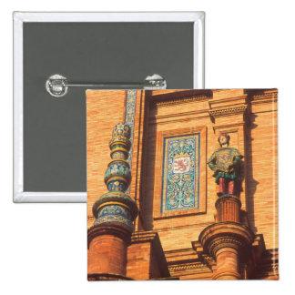 Ceramic statue detail on the Plaza de Espana in Button