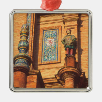 Ceramic statue detail on the Plaza de Espana in Metal Ornament